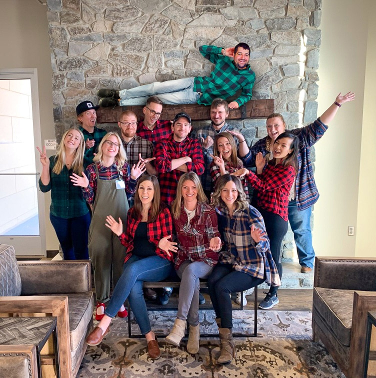 Flannel Friday with Luke on the mantel