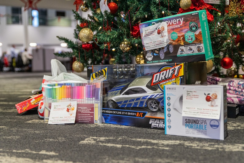 Angel Tree gifts at Cars For Sale