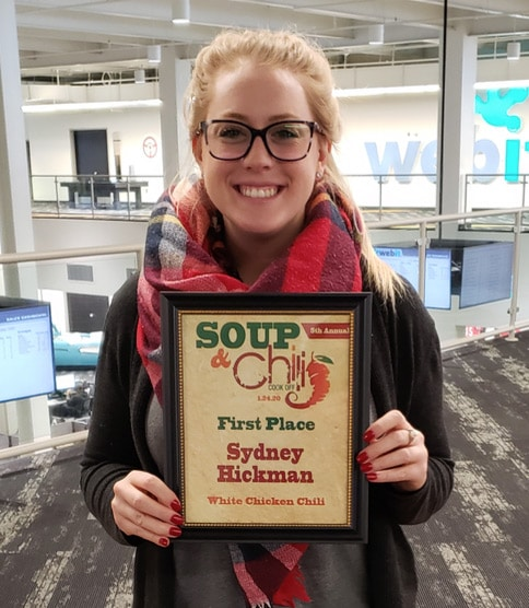 Sydney, first place chili and soup cookoff winner